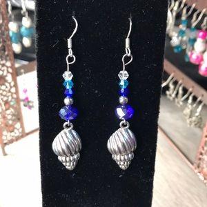 Handmade seashell dangle earrings